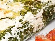 Спаначена запеканка с извара и яйца на фурна
